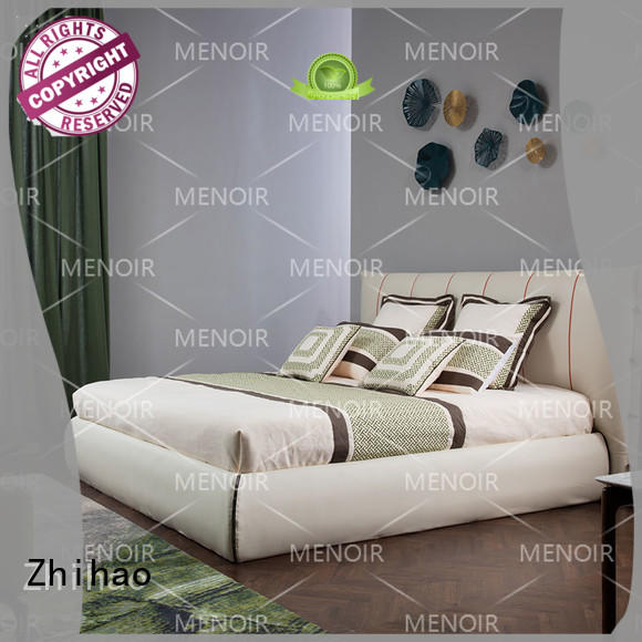 Zhihao reliable queen size leather bed bed for home