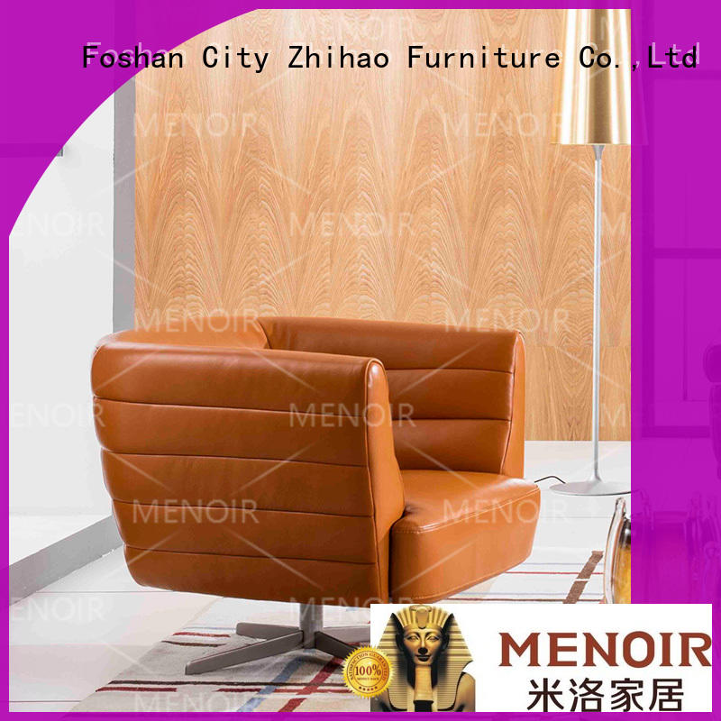 Menoir exquisite brown leather accent chair wholesale for bedroom