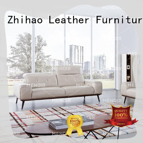 top quality brown leather sofa supplier for bedroom