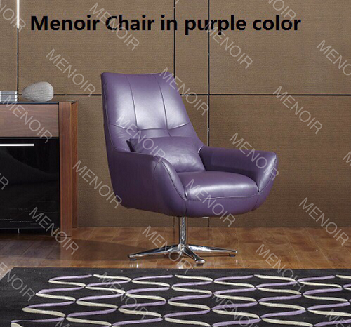 Menoir high-back swivel single chair in steel legs WA-DY03