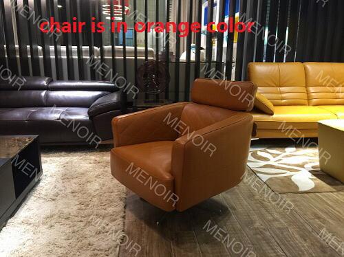 Menoir slim armrest single chair with swivel steel legs WA-DY08