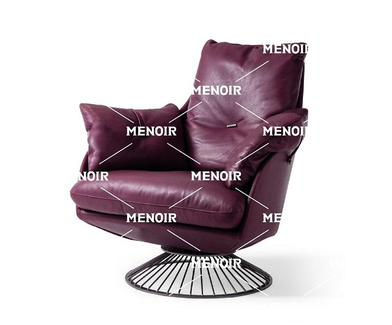 Menoir certificated small leather accent chair directly sale on sale