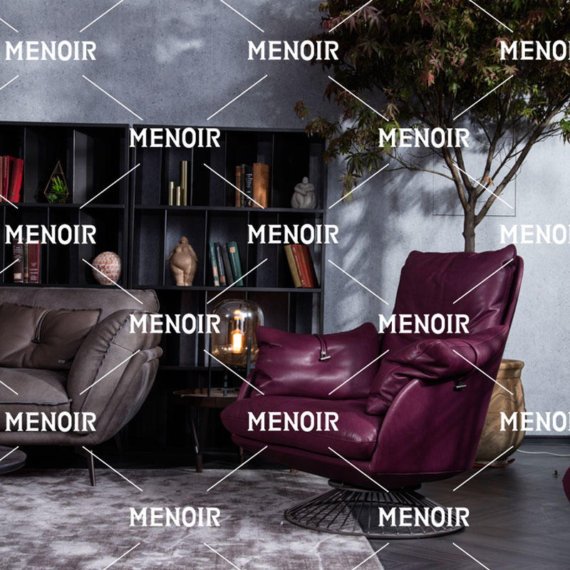 Menoir leisure-style chair with imported full grain leather AMBO-DY8028