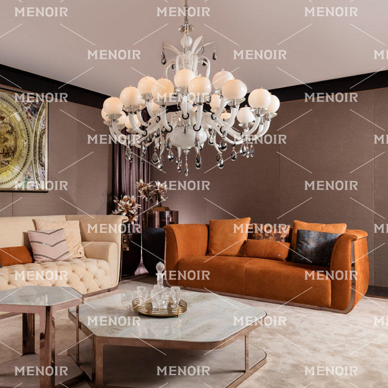 MENOIR LIGHT LUXURY BEST MODERN LEATHER SOFA AMQ-S2019