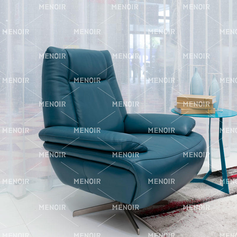 MENOIR UNIQUE BLUE COLOR MODERN LEATHER CHAIRS S6007