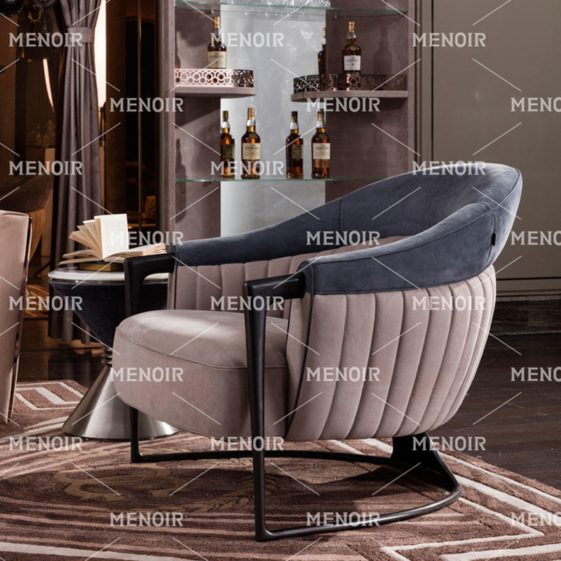 MENOIR LUXURY ROUND CUB SINGLE LEATHER CHAIR AMLQ-CY2002