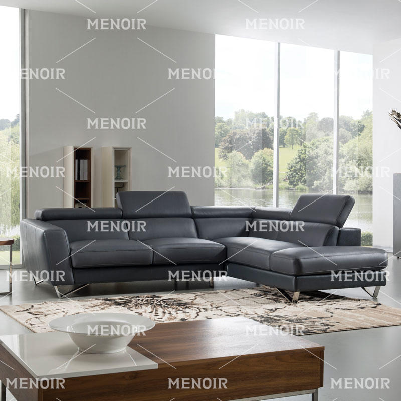 MENOIR HIGH QUALITY L SHAPE LEATHER SOFA MODERN DESIGN WA-S321