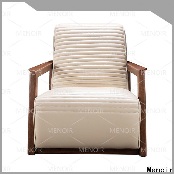 Menoir modern leather armchair factory for hotel