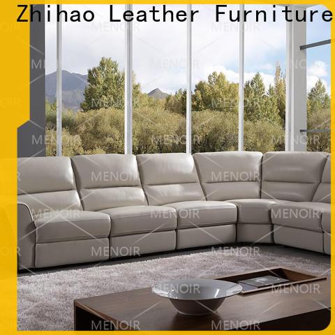 Menoir brown leather recliner manufacturer for promotion