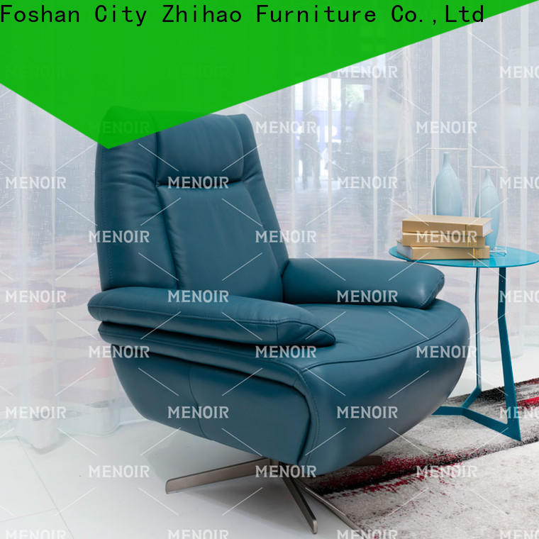 factory price light brown leather chair series for bedroom