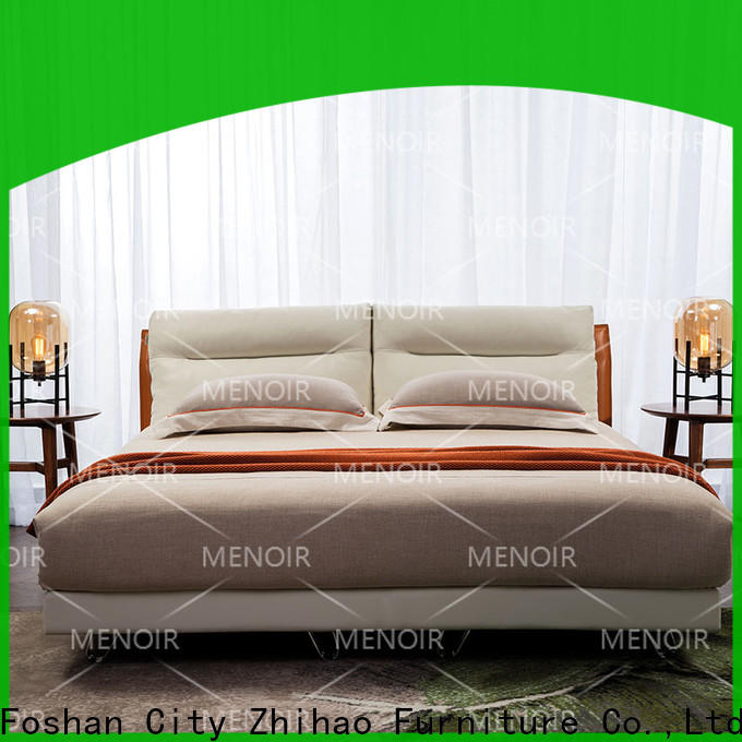 Menoir popular platform bed with leather headboard company on sale