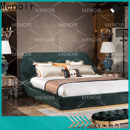 Menoir leather double bed frame factory for bedroom