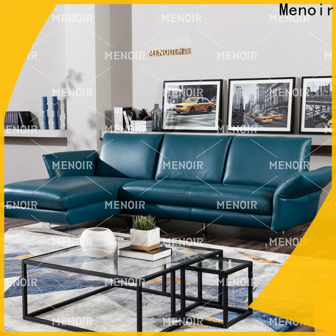 Menoir leather reclining sofa factory direct supply for household