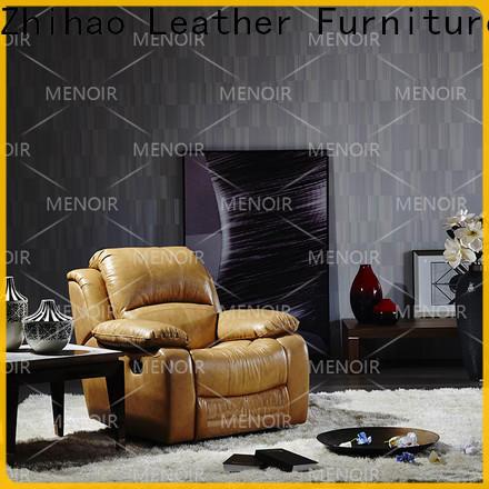 Menoir efficient black leather recliner supplier for bedroom