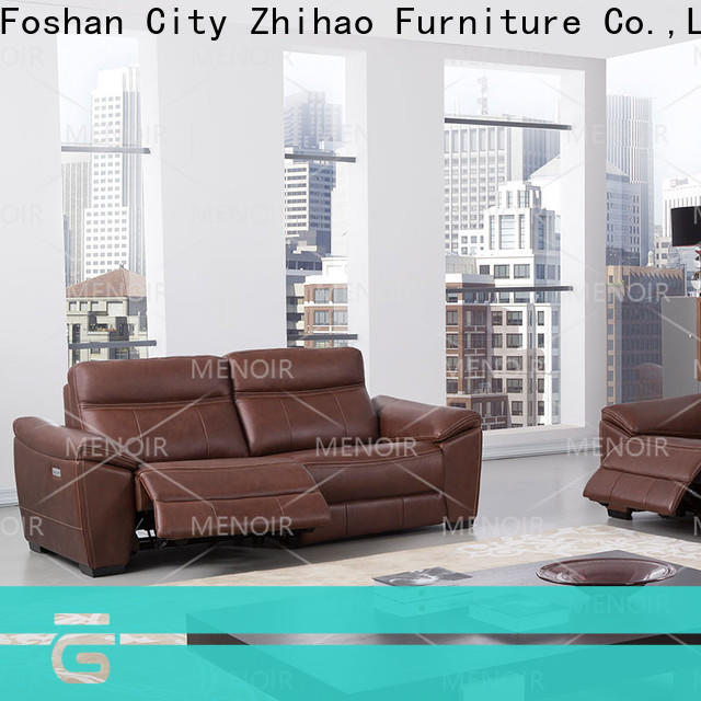 Menoir leather sofa and recliner set wholesale for promotion