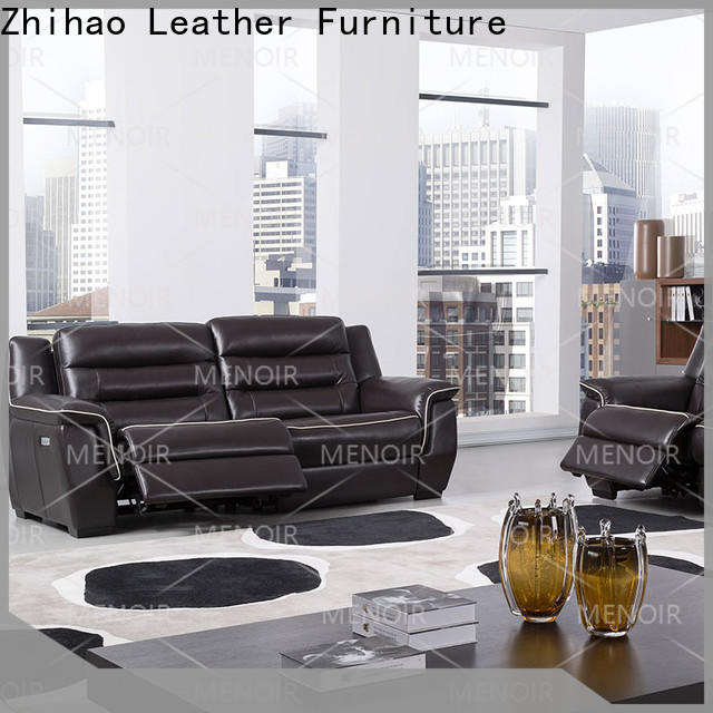 latest saddle leather recliner series for bedroom