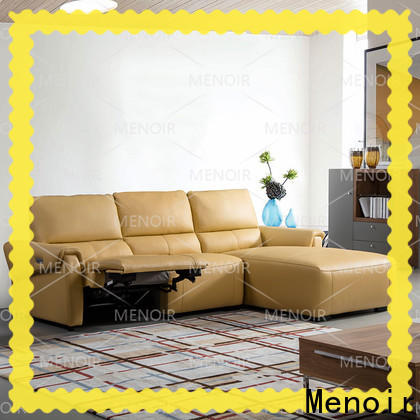 Menoir latest curved leather sofa recliner directly sale bulk production