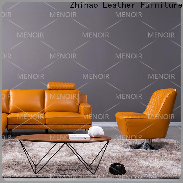 Menoir best value leather swivel armchair series for hotel