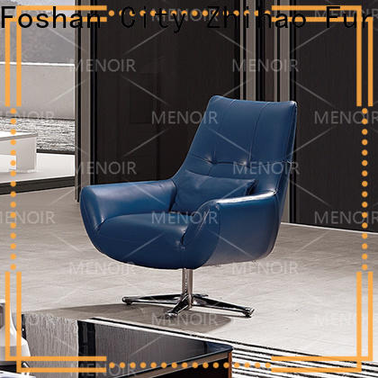 Menoir leisure style modern leather club chair factory direct supply on sale