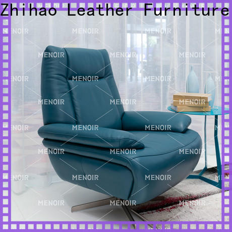 Menoir low-cost leather swivel lounge chair series for promotion