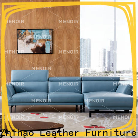 Menoir hot selling contemporary leather reclining sofa supplier for household