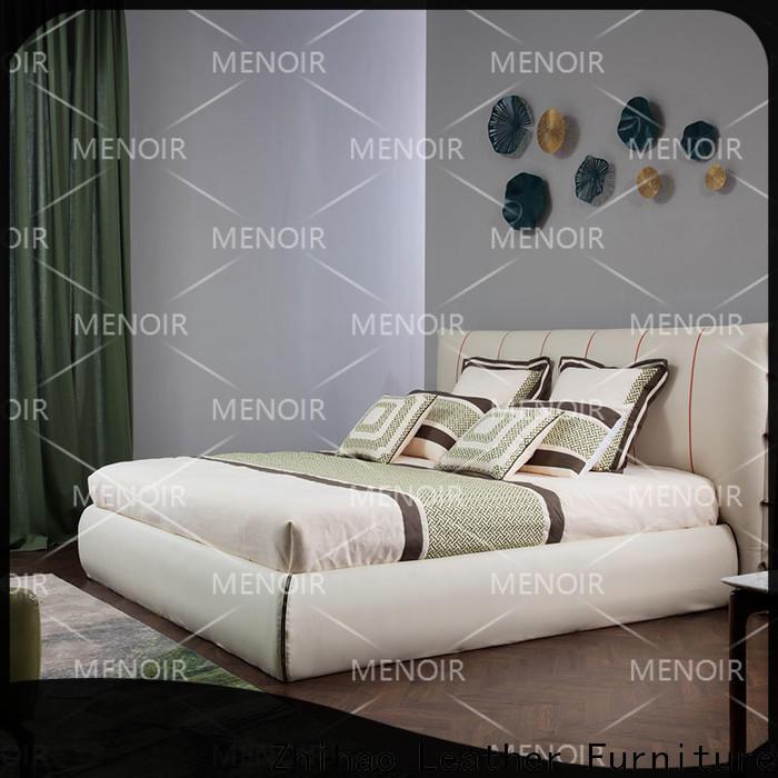 Menoir leather bed king manufacturer on sale