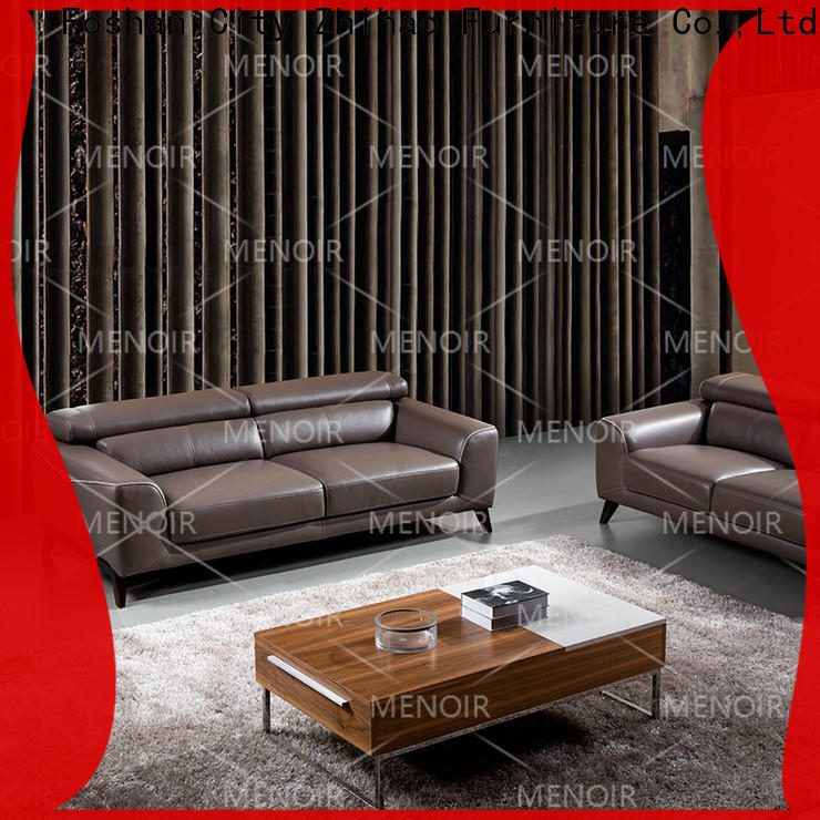 Menoir low-cost leather sofa wholesale from China for sale