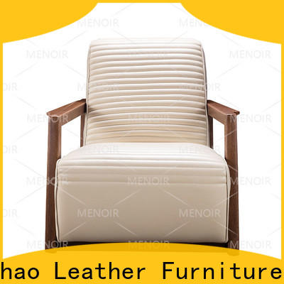 Menoir oversized brown leather chair directly sale for household