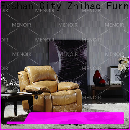 Menoir leather couch recliner wholesale for household