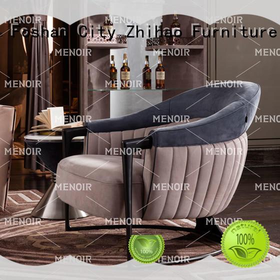 Menoir brown leather armchair directly sale bulk production