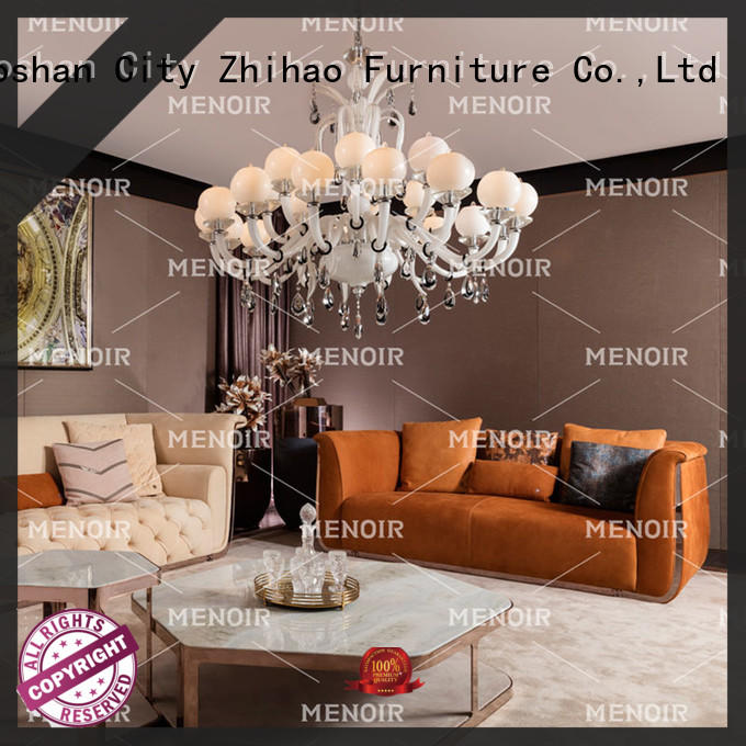 Menoir approved modern leather sofa factory bulk buy