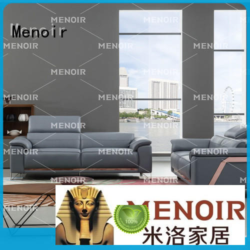 Menoir brown leather sofa factory direct supply for promotion