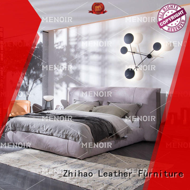 Menoir leather king bed with good price for hotel