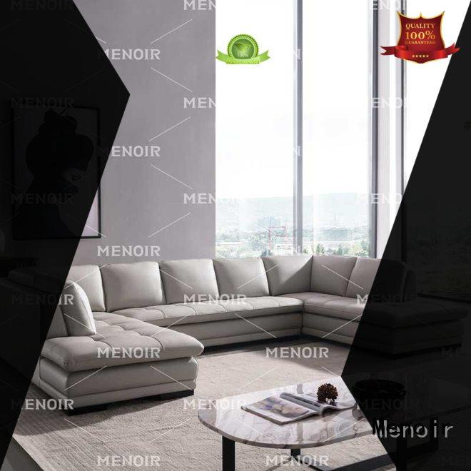 Menoir hot-sale brown leather sofa factory direct supply for bedroom