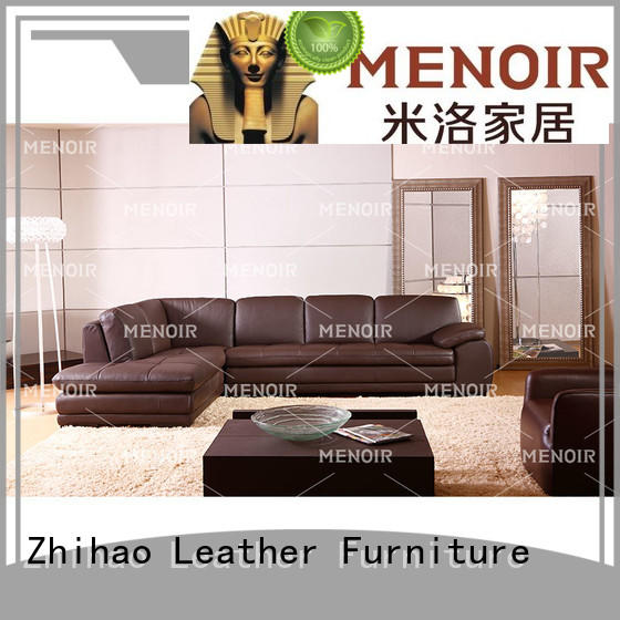Menoir leather sectional sofa manufacturer for home