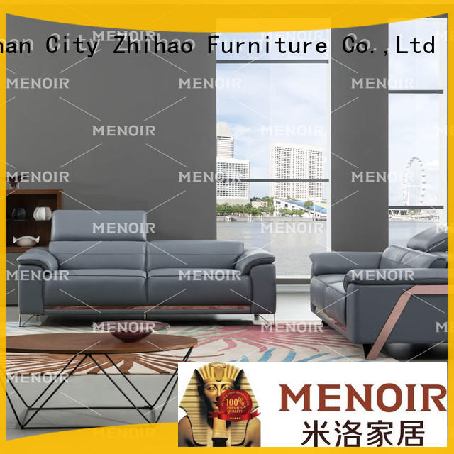 Menoir modern leather sofa from China for bedroom