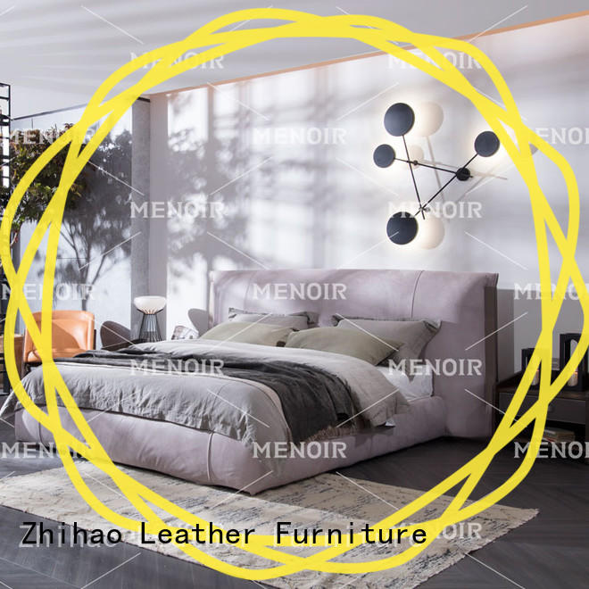 popular leather bed design factory direct supply on sale