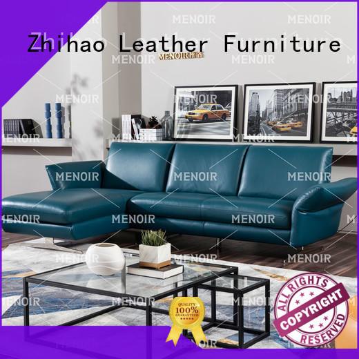 Menoir leather sectional sofa directly sale bulk production