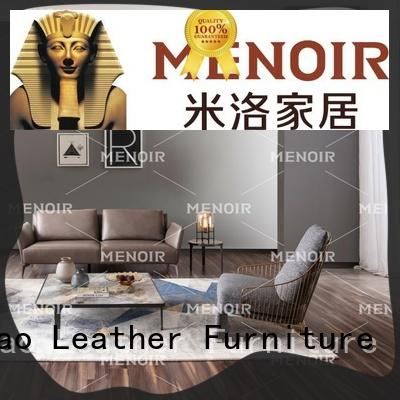 Menoir walnut cool leather chairs with good price for bedroom
